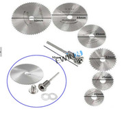 Wholesale 6pcs HSS Circular Saw Blade With Mandrel Max RPM Speed for Rotary Tool Mandrel SETS
