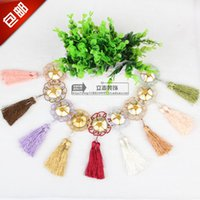 applique table runner - Sunflower tassel lace applique ball curtain accessories jewelry accessories crystal head table runner mantle lob