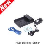 Wholesale USB eSATA quot quot Mobile HDD Hard Drive Disk Docking Station Enclosure Horizontal HDD Docking Station New Arrival order lt no track