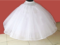 Wholesale Simple White Tiered Tulle Petticoat Wedding Accessories Vestido De Noiva Wedding Underskirt Petticoats For Wedding Dress