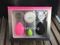 beauty soap - The beauty Fantastic four make up sponge set Latex Free Original Mini Green Pro Blender cleanser Solid Soap set
