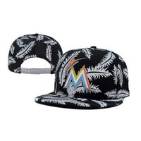 Wholesale Miami Sports Caps Marlins Team Snapack Hats Baseball Caps Fashion Snapbacks Caps Adjustable Hats White Feather Pattern Snapback Cool Caps