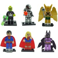 Wholesale New Arrival Decool Building Blocks Super Heroes Avengers Minifigures Justice League hawkman superman supergirl brainiac cyborg batman Figure
