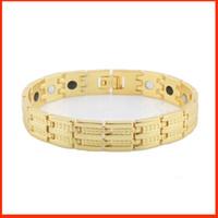 18K золото баланс здоровья Германий энергии магнитная сила браслет манжета мужчин женщин титана энергии Браслеты напульсники 160814