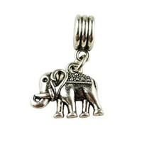Wholesale Women Jewelry Silver Bead Charm Silver Elephant Pendent Bead Fit Pandora Bracelets Bangles H1003