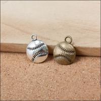 baseball sporty - Online Sporty Charms Single Sided Baseball Shape Alloy Charms AAC142