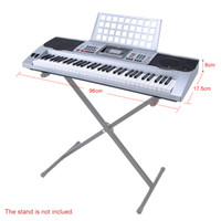 Wholesale 61 Keys LCD Digital Keyboard Electric Piano with USB Music Playing Status Memory Pitch Bend Vibrato Wheel Sheet Music Holder