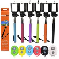 Cheap 3 in 1 bluetooth selfie stick remote shutter handheld monopod phone holder Clip for iphone 6 samsung galaxy s6
