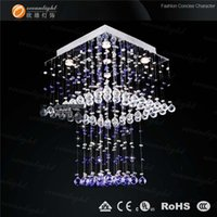 hand blown art glass - Hand blown art glass chandelier lamp crystal drops lamps for home modern OM9170W