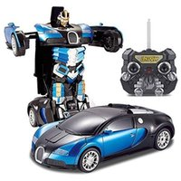 Wholesale quality Christmas Gift Electric toy Remote Control Car Radio Control Deformed Car Toy Cars Scale Model Telecommand Deformed Car robot