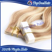 Cheap tape hair extensions wavy Best tape in human hair extensions