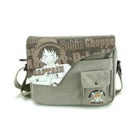 Cheap Anime One Piece Sling Pack Canvas Character Handbag Messenger Shoulder Bag Cosplay
