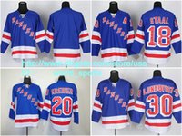 blank hockey jerseys - 2015 New York Cheap Marc Staal Chris Kreider Henrik Lundqvist Blank Rangers Nhl Light Blue A Ice Hockey Jersey Stitched Free ny