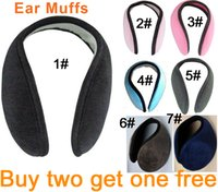 Wholesale Cheap Fashion Earmuffs Mens Womens Winter Plush Blending Cotton Hats Caps Cycling Running Walking Plus Ear Muffs Buy Two Get One Free SS0002