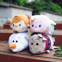 Wholesale 30cm inch Japan Tsum Tsum Plush Toys Kawaii Froze Elsa Anna Olaf Sven Pillow Dolls Soft Toys Pillow plush children toys HX
