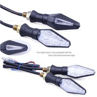 Wholesale High quality Yellow Light pair of Universal V W LED Motorcycle Turn Signal Indicators Lights lamp Easy to install