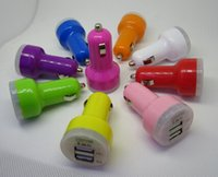 Cheap Colorful Dual USB 2 Port Car Charger Cigarette 2.1A Auto Power Adapter for iphone 4 5 5S 5C ipad Samsung LG