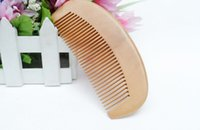 Wholesale OEM Traditional Natural Cherry Comb Customized Wooden Combb It Can Be Engraved Your Logo