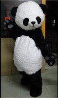 Journée du Festival de tissu professionnel Panda Bear Outfit Mascot Adult Costume Taille Fancy Dress For Party Valentine