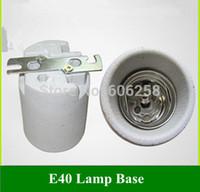 Wholesale E40 Ceramic Lamp Holder Lampholder with Bracket Holder Socket