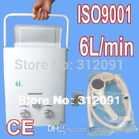 Instant water heater Avis-MINI NEW Portable 6L GPL Propane Gas Tankless Chauffe-eau chaude instantanée chaudière instantanée CE A3