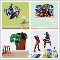 cartoon wall stickers - The Avengers Wall Stickers Kids Room Decoration Minecraft Cartoon Wallpaper Kids Party Decoration Christmas Gift Drop Shipping
