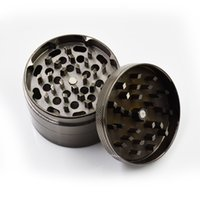 Wholesale Herb grinder metal machine hot sell gunblack CNC teeth mm parts zinc alloy herb grinder selling crazy