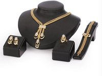 Wholesale Jewelry Set For Women Collar Necklace Earrings Bracelet Fine Rings Sets Party Costume Latest Fashion Trendy