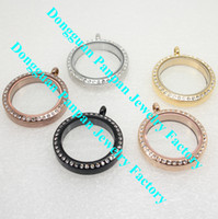 stainless steel charms - Panpan support for blending mm floating locket with crystals L Stainless steel living locket for floating charms Factory outlets