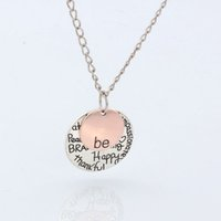 initial charms - Hot quot Be quot Graffiti Happy Strong Thankfull Charm Pendant Necklaces quot quot quot