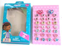 beauty clinic - Free Ship Pieces Box Mixed Popular Doc Mcstuffins Clinic Frozen Rings Beauty Rings Fancy Ring Cartoon Ring In Nice Box