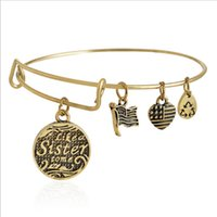 Wholesale Fashion Bangle Stainless Steel Alloy Infinity Alex And Ani Dangle Three Retro Pattern DIY Bracelets Bangles Jewelry