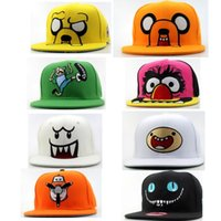 Snapbacks adventure time hat - 10 new cartoon children s hats Adventure Time Snapbacks Fashion hat for child