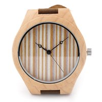 Wholesale New arrival japanese miyota movement wristwatches genuine leather pine wooden watches wood quartz watch for men and women with gift box