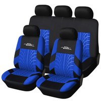 Wholesale AUTOYOUTH Blue Tire Track Detail Style Polyester Fabric Car Seat Cover Universal Fit Most Car Covers Car Seat Protector order lt no track