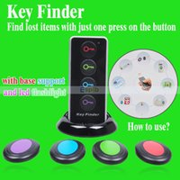 Wholesale 1 Transmitter Receivers Wireless Key Finder Set Anti Lost Alarm RF Wireless Electronic Finder Locator Key Chain For Kids keys Cell Phone