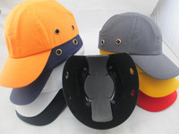 baseball cap construction - New cotton work safety protection hat smashing hit light breathable site construction workers welding workers baseball cap