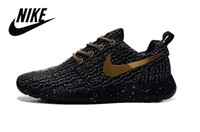 flat light - NIKE Roshe Run One BR X Flyknit Kanye west Boost Yeezy nike factory outlet MEN S Running Sport Shoes Turtle Grey Pirate Black