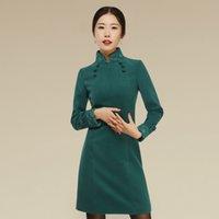 al por mayor chino dong-El nuevo 2016 ms qiu dong manga larga restaurar maneras antiguas mejorado cheongsam moda china qipao vestido