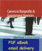 agencies government - Careers In Nonprofits And Government Agencies Editon WetFeet Insider Guide