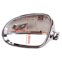 Wholesale Chrome Left Wing Mirror Cover Casing Cap Housing For VW Golf Mk4 Bora J2 B0857538B Silvery order lt no track