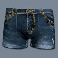 boxer briefs - 2016 High Quality Mens Boxers New Funny Jeans Print Cotton Underwear Men Brand Underpants Sexy Boxer Shorts boxer briefs