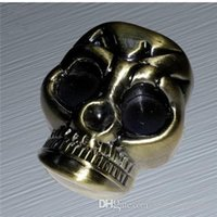 alloy pipe suppliers - Znic Alloy Skull Shape Herb Grinder with Dispaly Box parts mm rolling paper shisha bong smoking pipe vaporizer and so on supplier