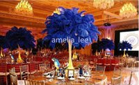 Wholesale Promotional price inches cm Royal Blue natural Ostrich Feathers for large Weddings and Parties decorations
