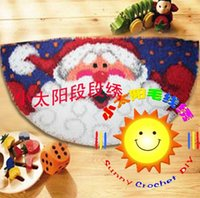 Wholesale DIY Mat Needlework Kit Unfinished Crocheting Rug Yarn Cushion Embroidery Carpet Cartoon Cat SNHS