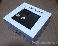 Wholesale E cigarette Digital Ohm meter Voltmeter Ohm Reader Vaporizer tester ohm Meter resistance reader ego RBA RDA evod ce4 ce5 MT3 atomizer