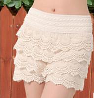 Regular Shorts - Womens Lace Short Plus Size women short New Summer Fashion Womens Shorts Sweet Style Lace Crochet Elastic Waist Slim Short Pants