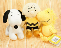 Wholesale 90pcs Peanuts Comics Charlie Brown And Snoopy Plush Toys Dolls Little Cute Woodstock Plush Stuffed Dolls Kids Toys EMS