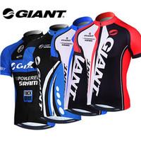 al por mayor gigante camisetas ciclismo-Giant Hombre Ciclismo Jersey Bike manga corta Sportswear Ropa de ciclismo Cuatro tipos
