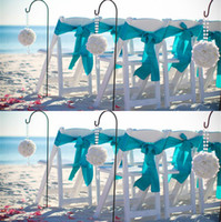 beach chairs - Mint Purple Navy Blue Satin Tying Chair Sashes Beach Wedding Party Decorations Chea Celebrations Graduations Event Supply Chair Bows Sash